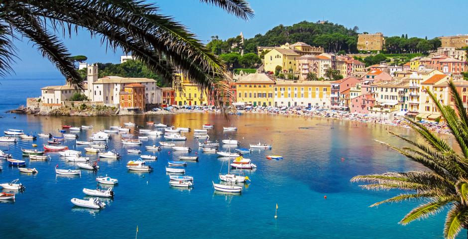 Sicht auf die wunderschöne Baia del Silenzio - Sestri Levante