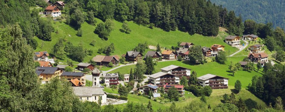 Bürserberg en été