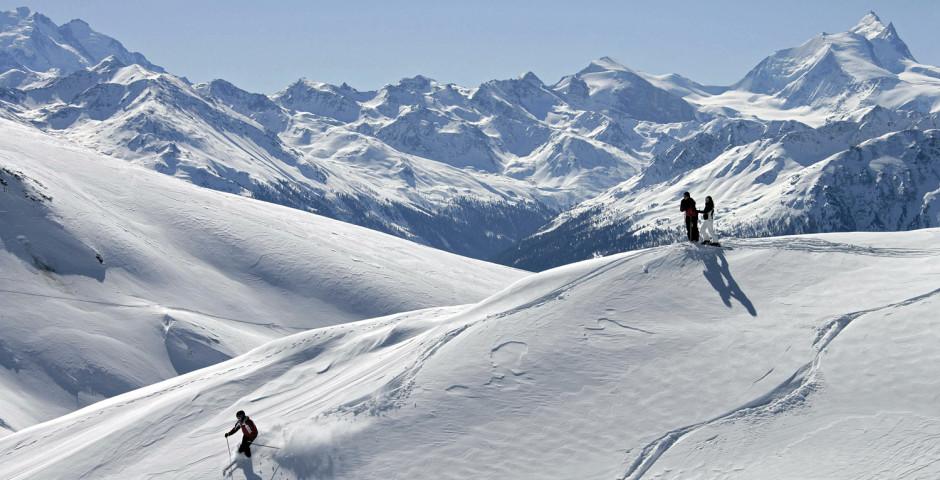 Skifahren im Skigebiet Leukerbad © Leukerbad Tourismus - Leukerbad