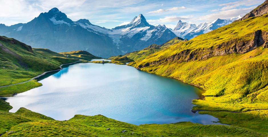 Aussicht auf die Berge Wellhorns und Wetterhorn - Grindelwald