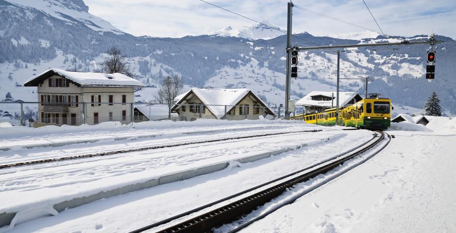 Train à crémaillère en Grindelwald