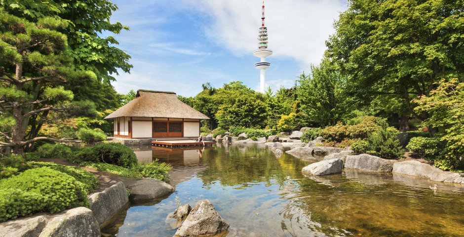 Planten un Blomen, Heinrich-Hertz-Turm, Japanischer Garten - Hamburg