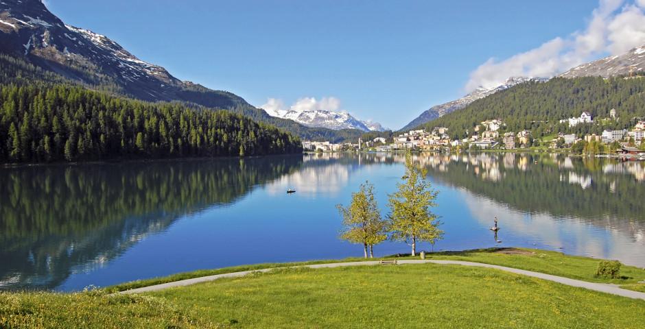 Sicht auf den St. Moritzersee - St. Moritz