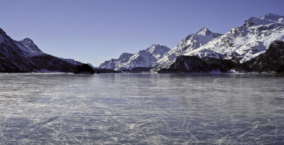 Silvaplanasee im Winter - Silvaplana Surlej