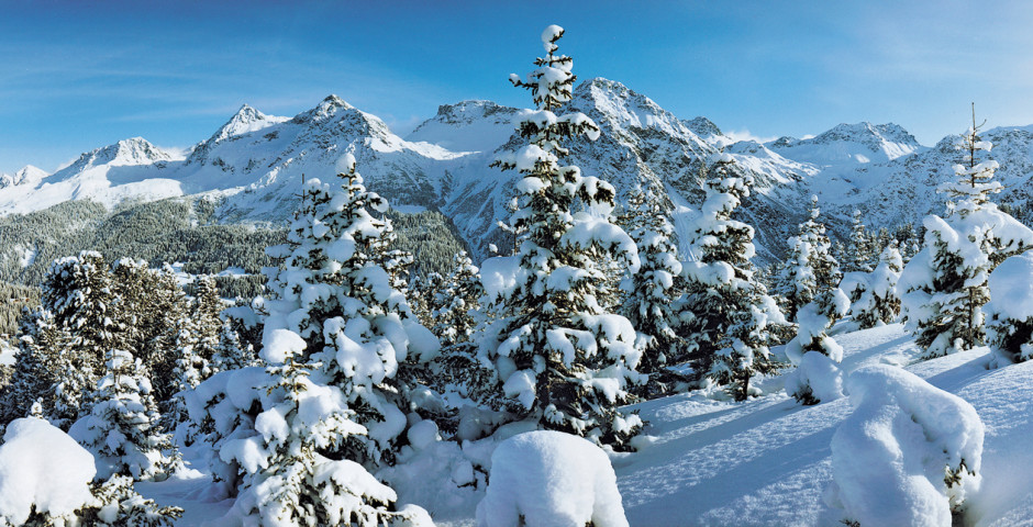 Verschneite Winterlandschaft - Arosa