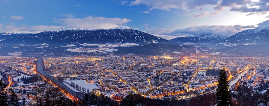 Vue sur Innsbruck