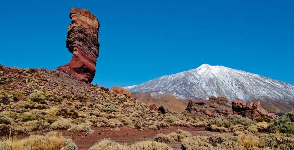 Blick auf Roque Cinchado und Pico del Teide - Teneriffa Landesinneres