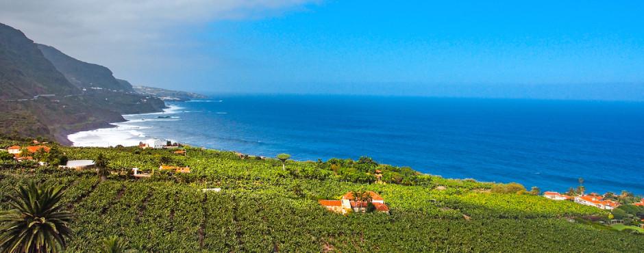 Blick auf die Nordküste Teneriffas