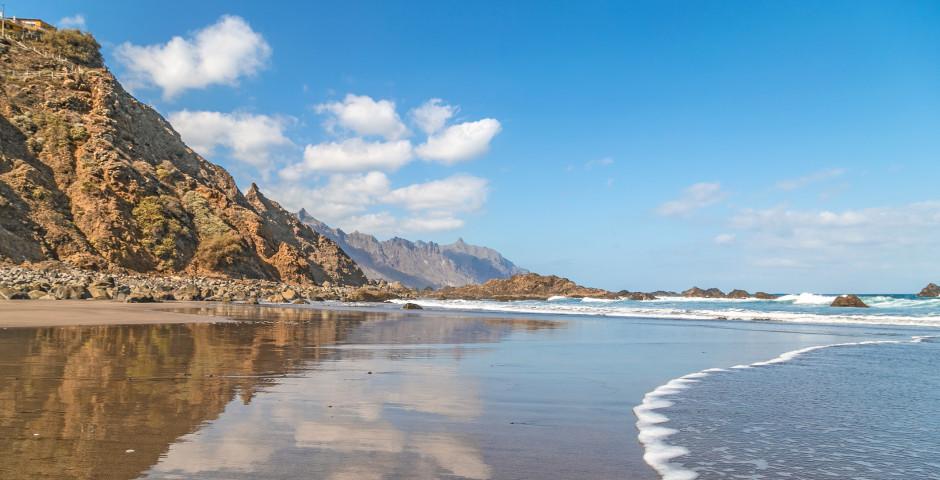 Blick auf Strand von Playa de Benijo - Nordküste Teneriffa