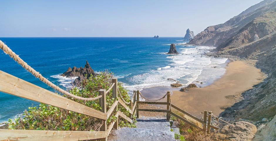 Chemin vers la plage de Playa de Benijo