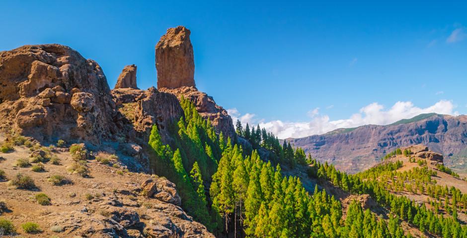 Das Wahrzeichen der Insel: Roque Nublo - Gran Canaria Landesinneres