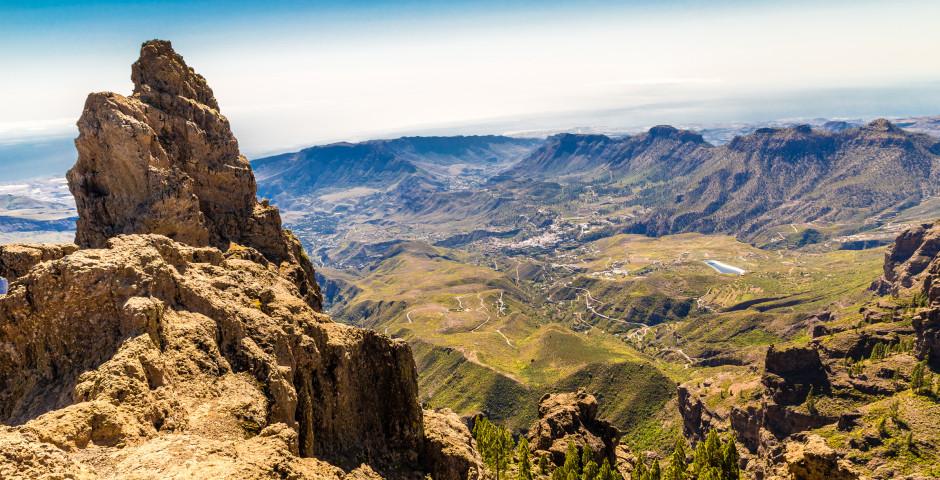 Vue spectaculaire du Morro de la Agujereada - Grande Canarie - l'intérieur de l'île