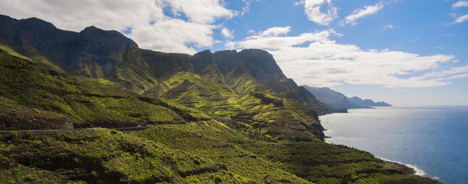 Beau côte entre Agaete et San Nicolás de Tolentino