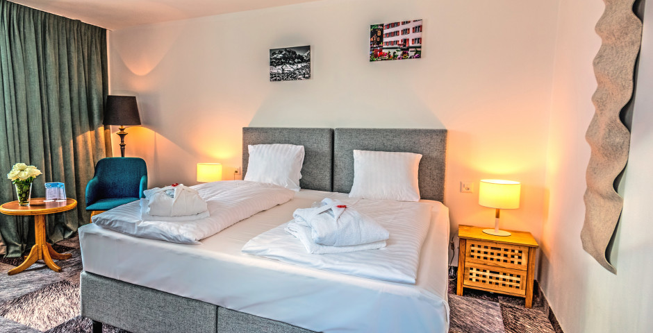 Doppelzimmer Hotel De France - Thermalhotels & Walliser Alpentherme