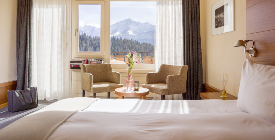 © Weisse Arena Gruppe / Chambre double Sud - signinahotel Laax