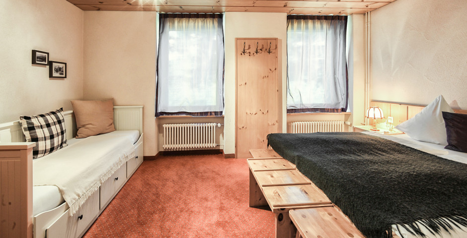 Chambre double Nord «Arve» - Hôtel Seehof Arosa - Forfait ski