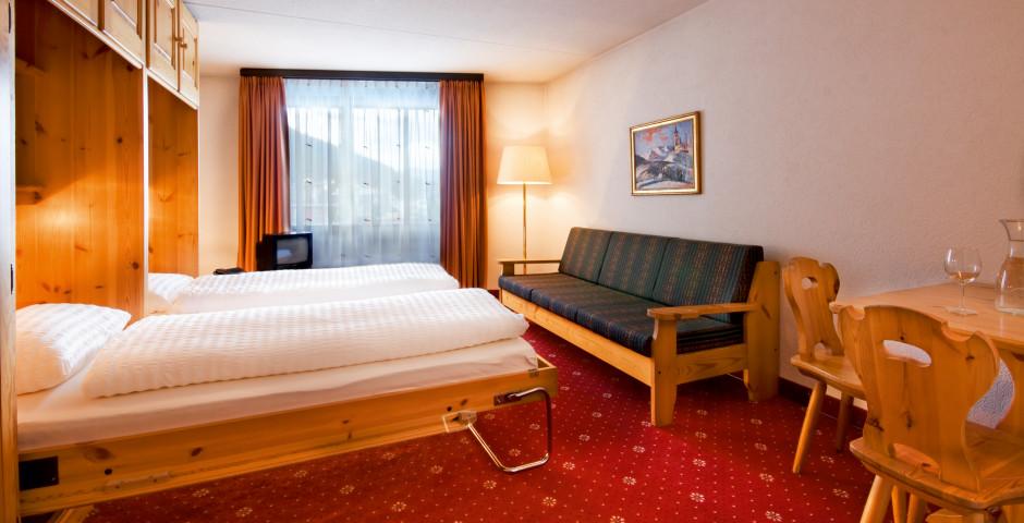 Doppelzimmer Nord mit Schrankbetten - Club-Hotel Davos - Skipauschale Schnäppchen