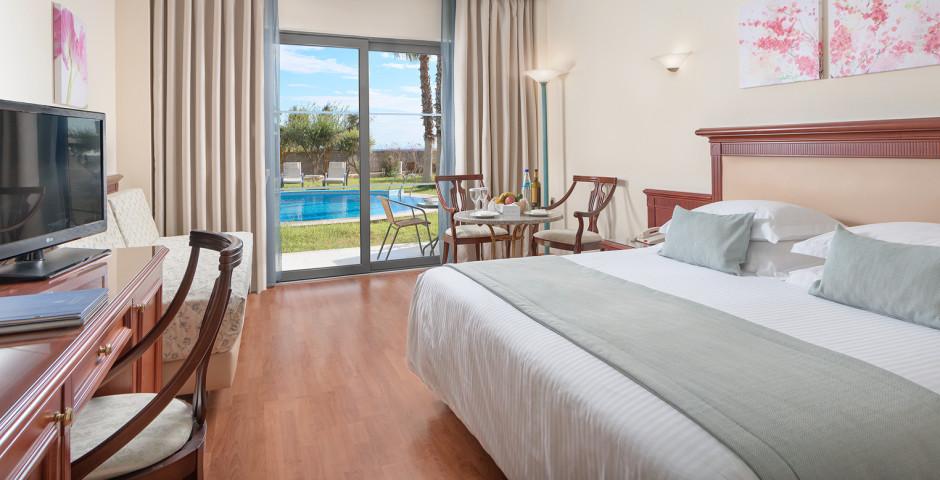 Doppelzimmer Gartensicht / seitlichem Meerblick - Atrium Palace Thalasso Spa Resort & Villas