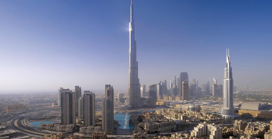 The Address: Turm rechts im Bild - The Address Downtown Dubai