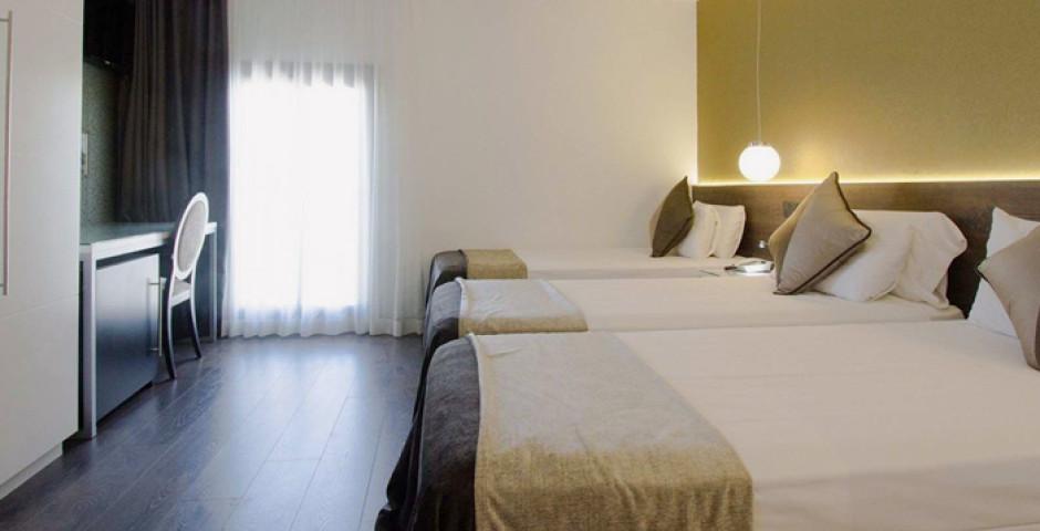 chambre à trois lits - Hôtel Moderno