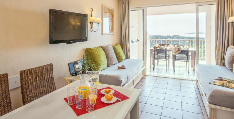 2-Zimmer-Appartement Cabine Standard - Feriendorf P & V «Les Restanques du Golfe de Saint-Tropez»