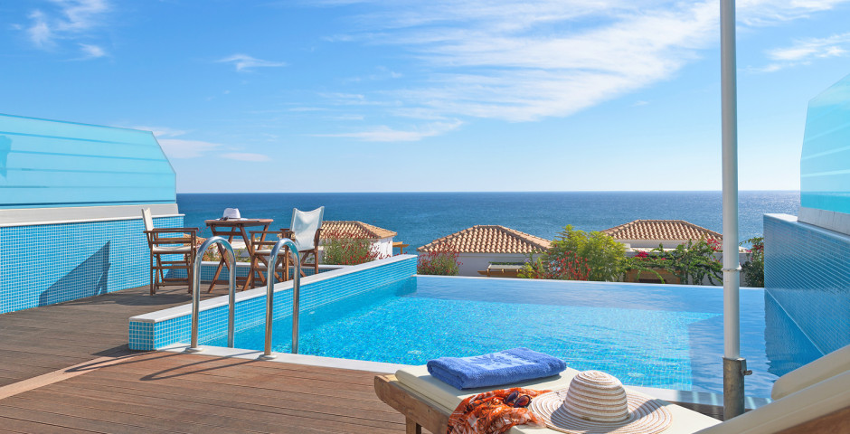 Doppelzimmer Deluxe mit Privatpool - Atrium Prestige Thalasso Spa Resort & Villas