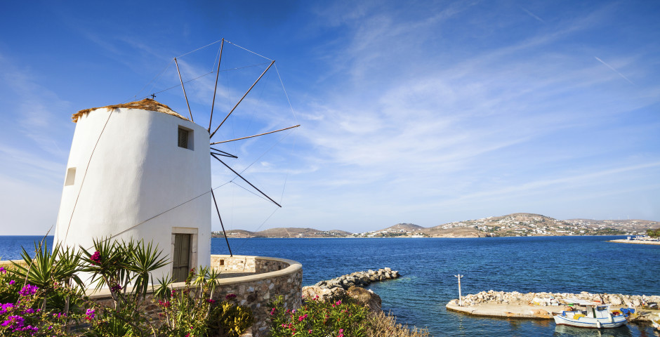 Moulin à vent blanc
