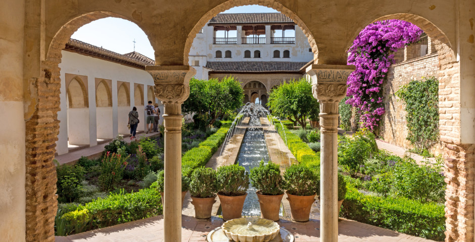 Generalife-Garten, Alhambra - Granada