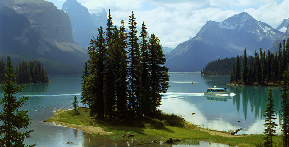 Spirit Island im Maligne Lake - Jasper
