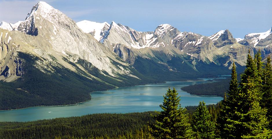 Blick auf den Maligne Lake - Jasper