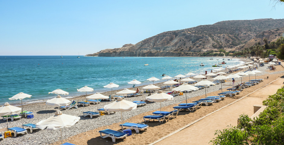 Vacances balnéaires sur la plage de Pissouri
