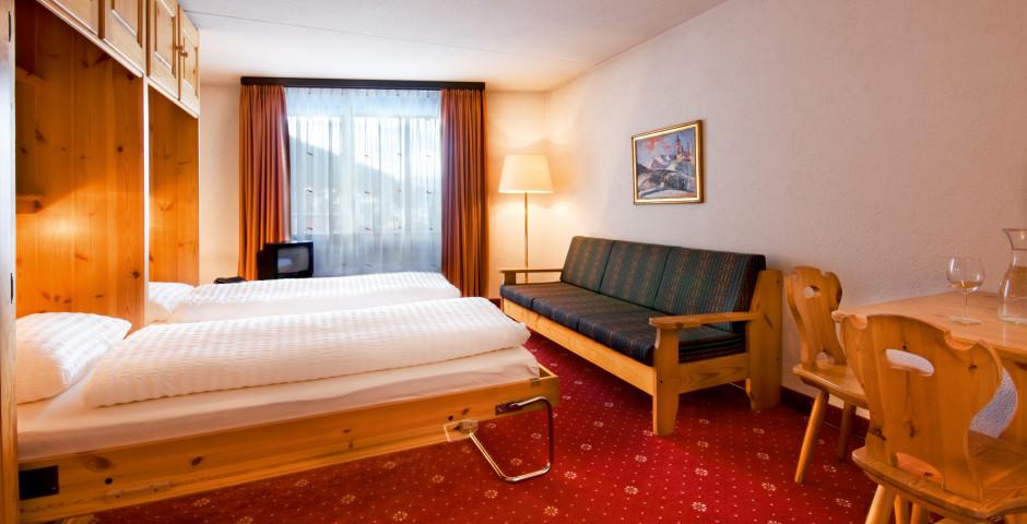 Doppelzimmer Nord mit Schrankbetten - Club-Hotel Davos - Sommer inkl. Bergbahnen