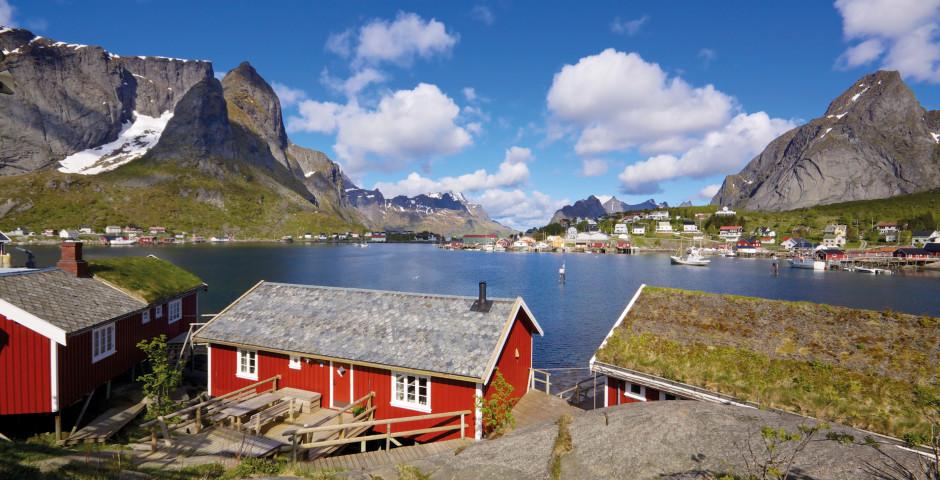 Typische Häuser - Norwegen