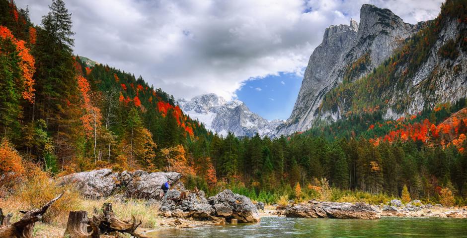 Blick auf den Berg Dachstein - Salzkammergut