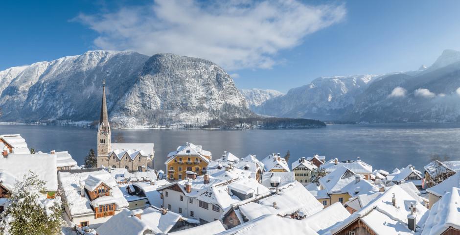 Le village Hallstatt en hiver - Salzkammergut