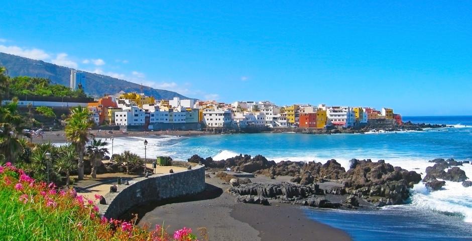Vue sur Puerto de la Cruz et Playa Jardin