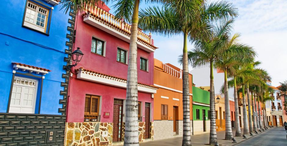 Maisons colorées à Puerto de la Cruz