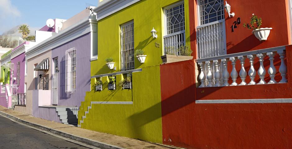 Bunte Häuser - Kapstadt