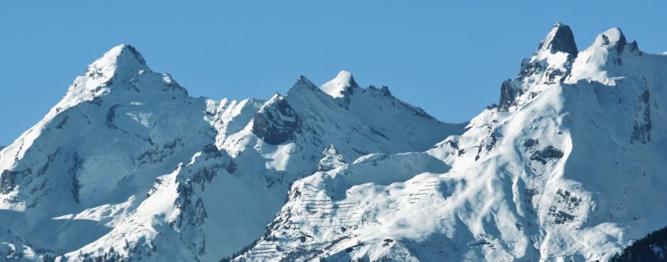 Die Berge Ovronnaz