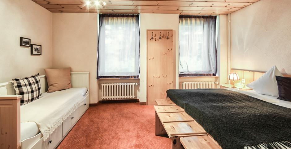Doppelzimmer Nord «Arve» - Hotel Seehof Arosa Sommer inkl. Bergbahnen