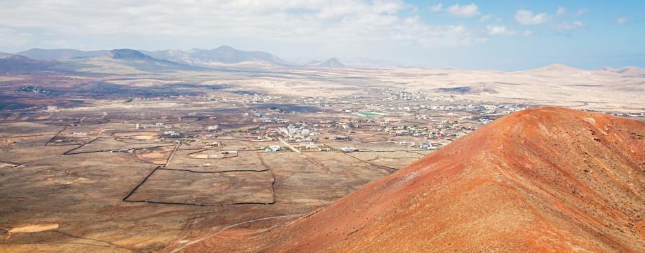 Blick vom Vulkan Calderon Hondo nach Lajares