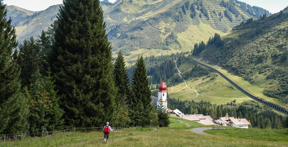 Faire de la randonnée à Damüls