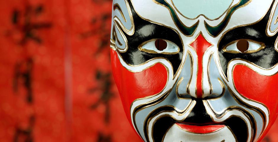 Traditionelle Maske aus der chinesischen Oper