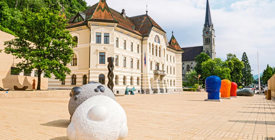 Stadtzentrum von Vaduz - Liechtenstein