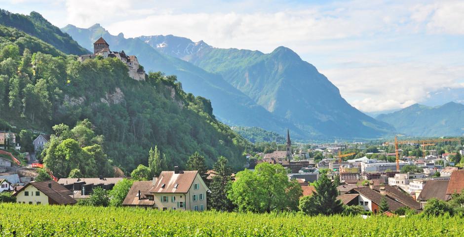Blick auf Vaduz - Liechtenstein