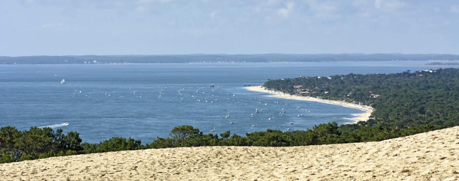 Vue de la Dune du Pilat sur Cap Ferret