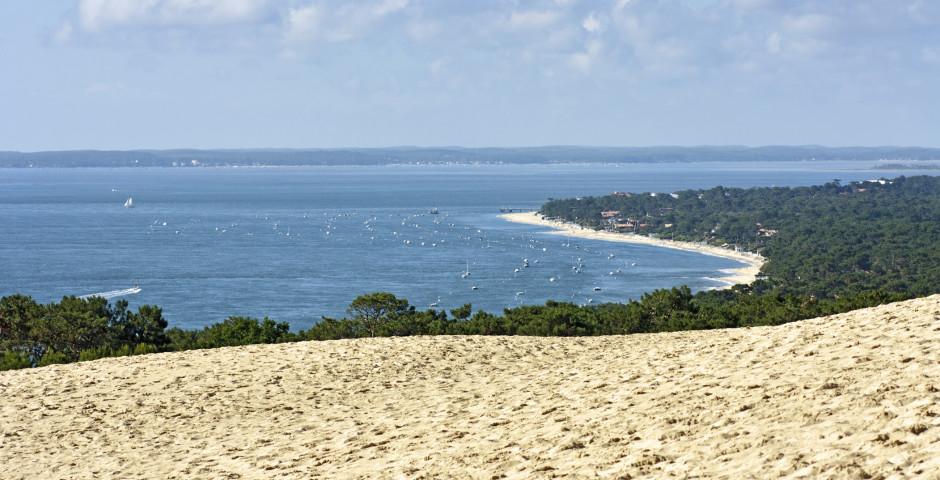 Vue de la Dune du Pilat sur Cap Ferret - Arcachon (Côte d'Atlantique)