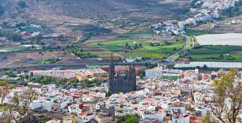 Blick auf die schöne Altstadt - Arucas