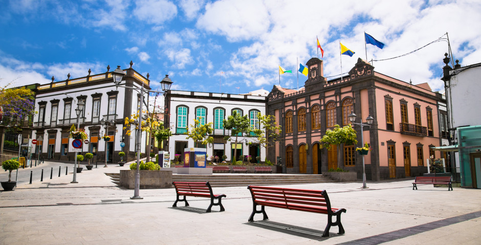 Plaza de Constitución avec l'hôtel de ville - Arucas