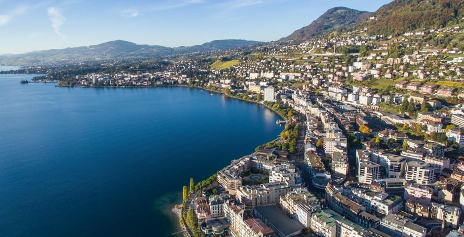 Vue sur la ville Montreux - Pays de Vaud